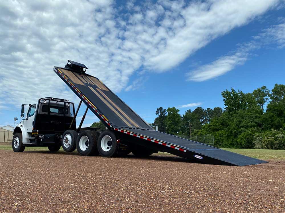tilt deck hydratilt truck by ledwell, patent pending