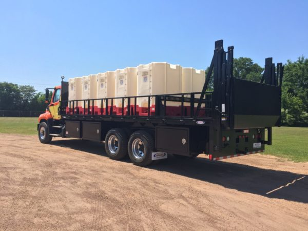 chemical tote bed trucks by ledwell